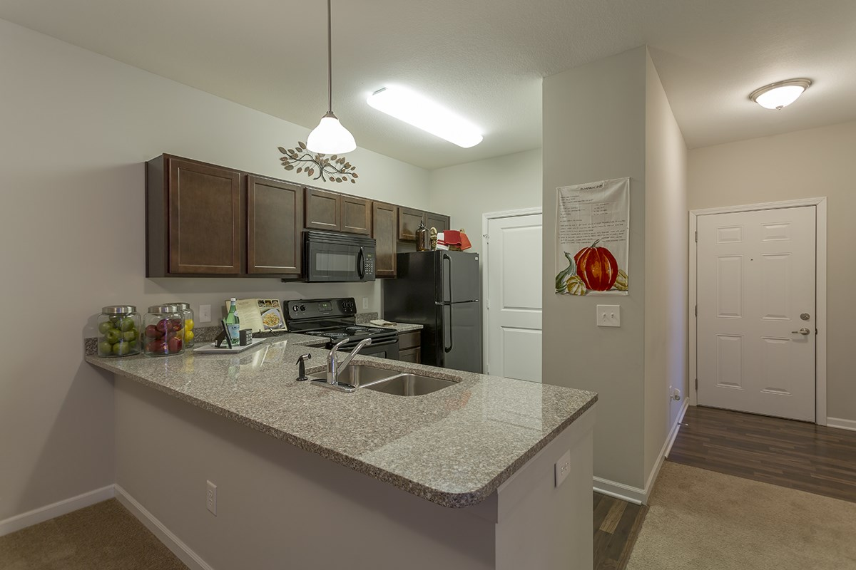 Open Kitchen at Steeplechase at Parkview Apartments in Fort Wayne, IN