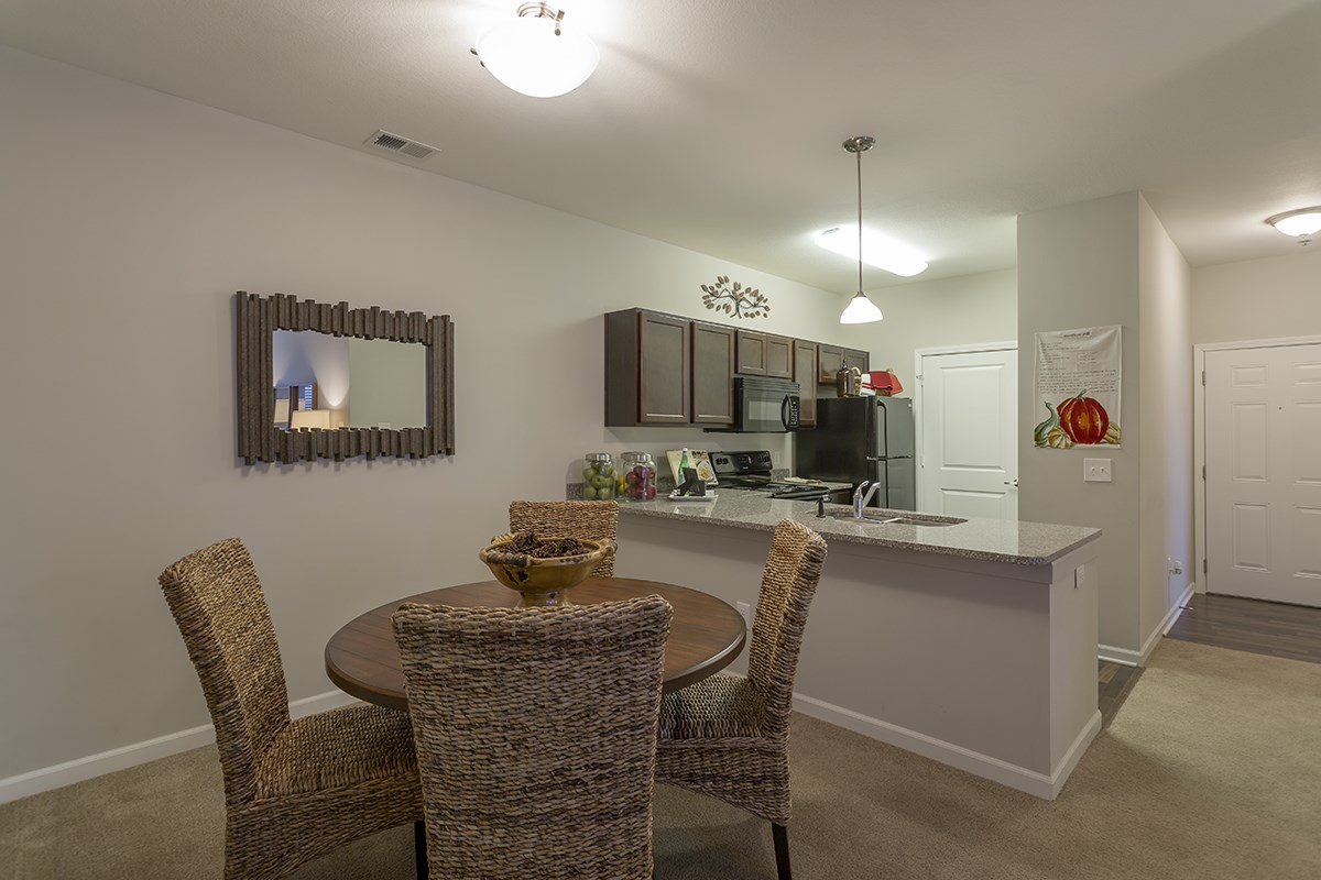 Open Living Spaces at Steeplechase at Parkview Apartments in Fort Wayne, IN