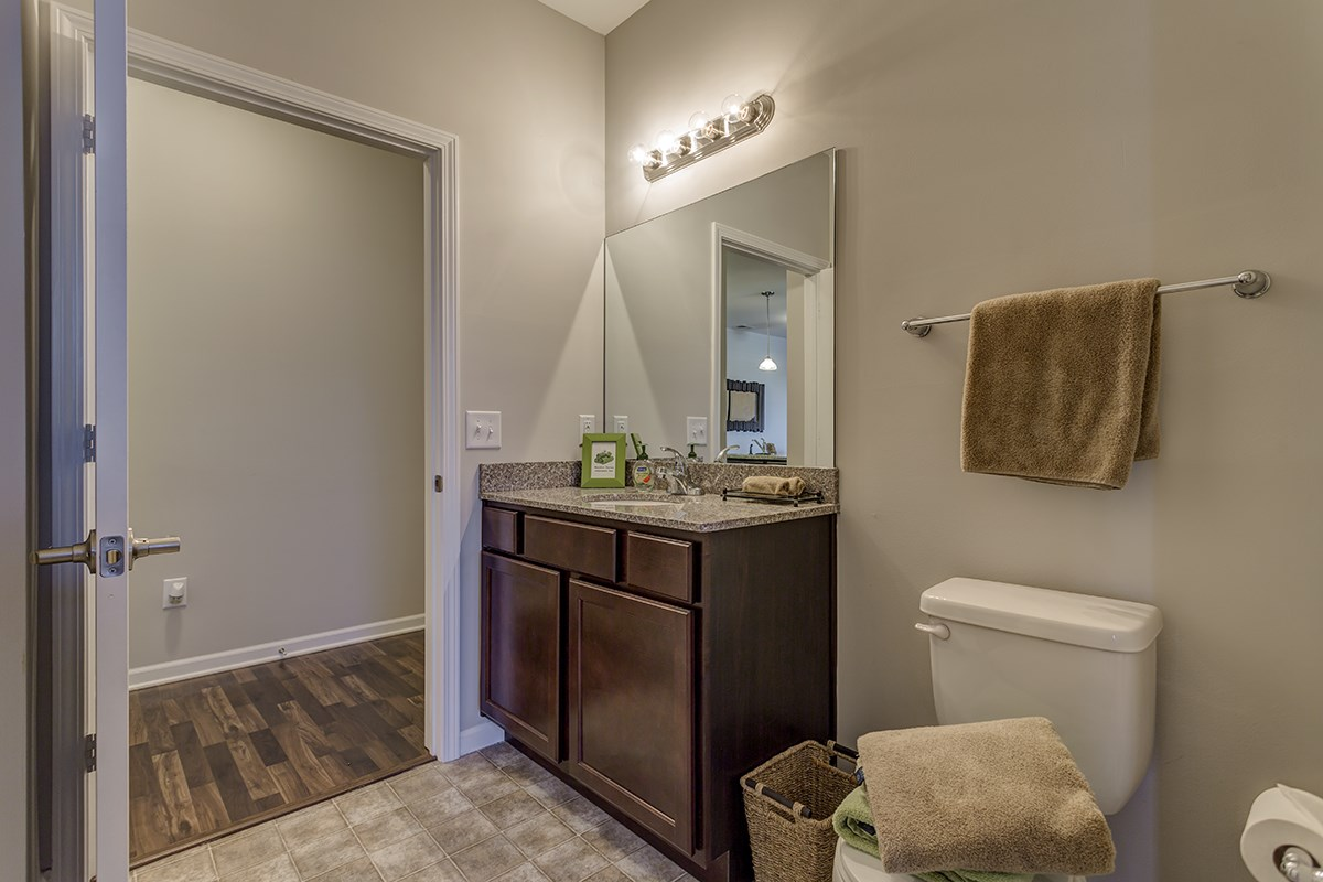 Bathroom at Steeplechase at Parkview Apartments in Fort Wayne, IN