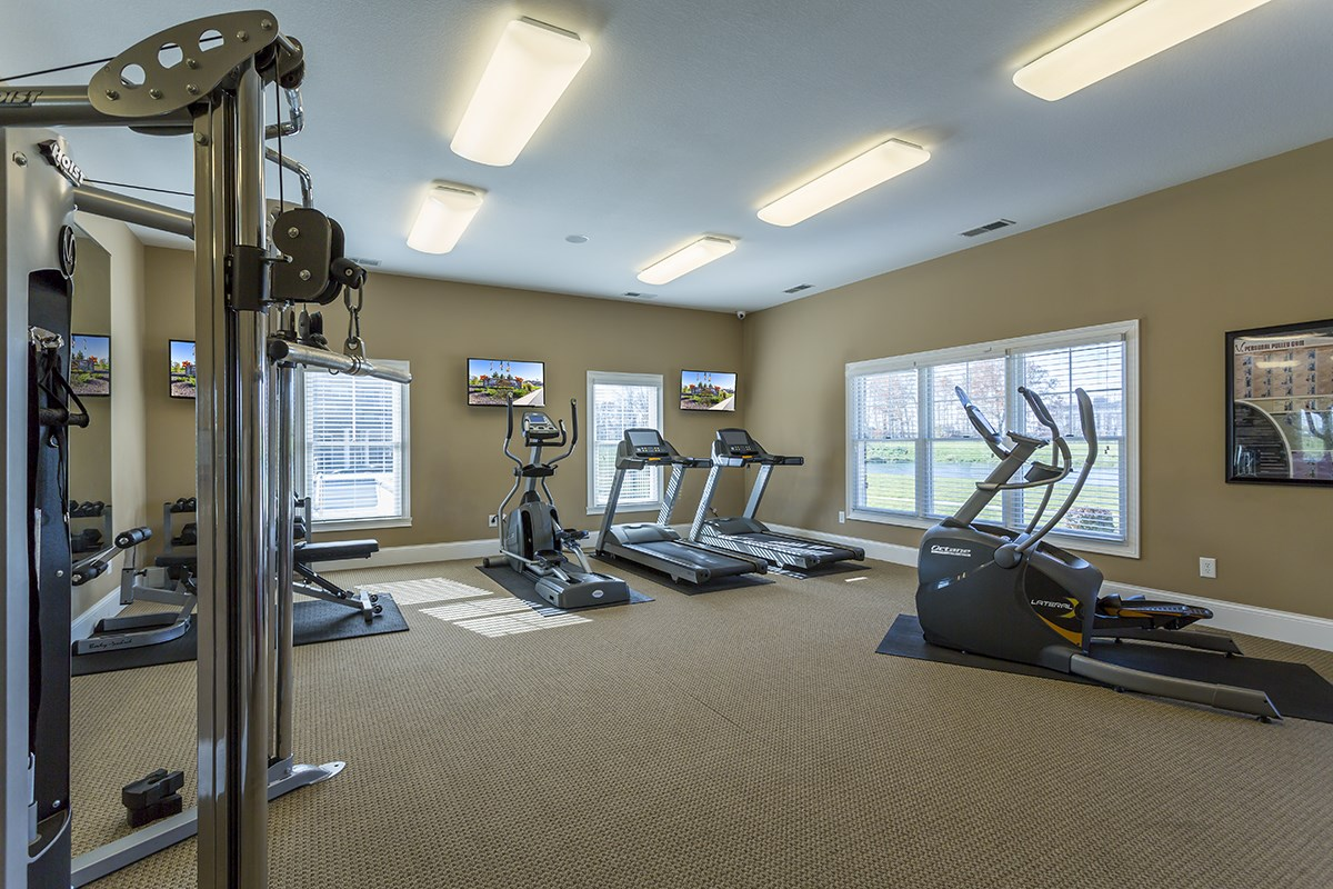 Fitness Center at Steeplechase at Parkview Apartments in Fort Wayne, IN