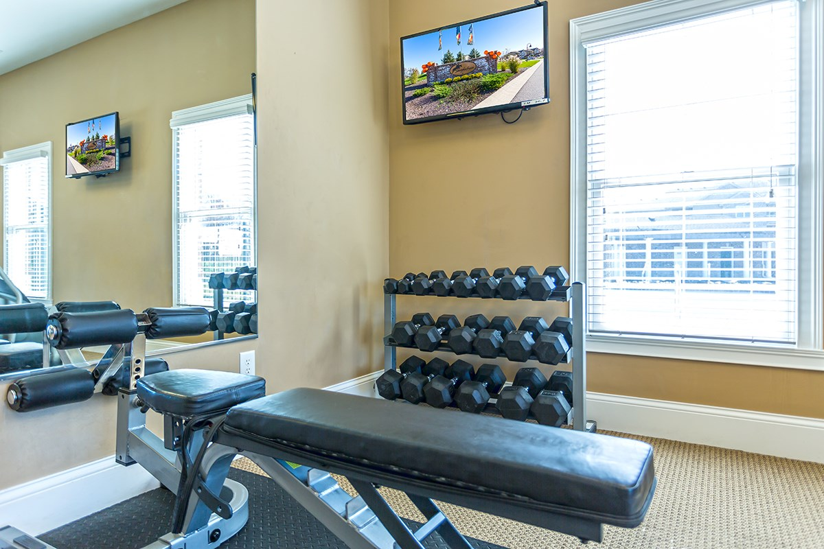 Free Weights at Steeplechase at Parkview Apartments in Fort Wayne, IN