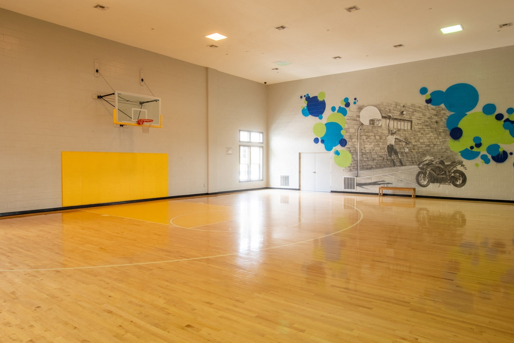 Indoor Basketball Court at Park Place Apartments