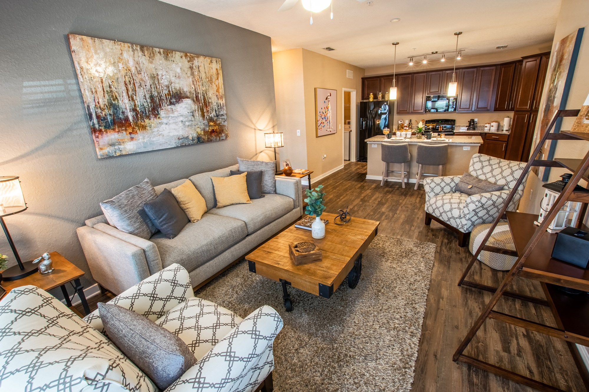Living Room at Park Place Apartments