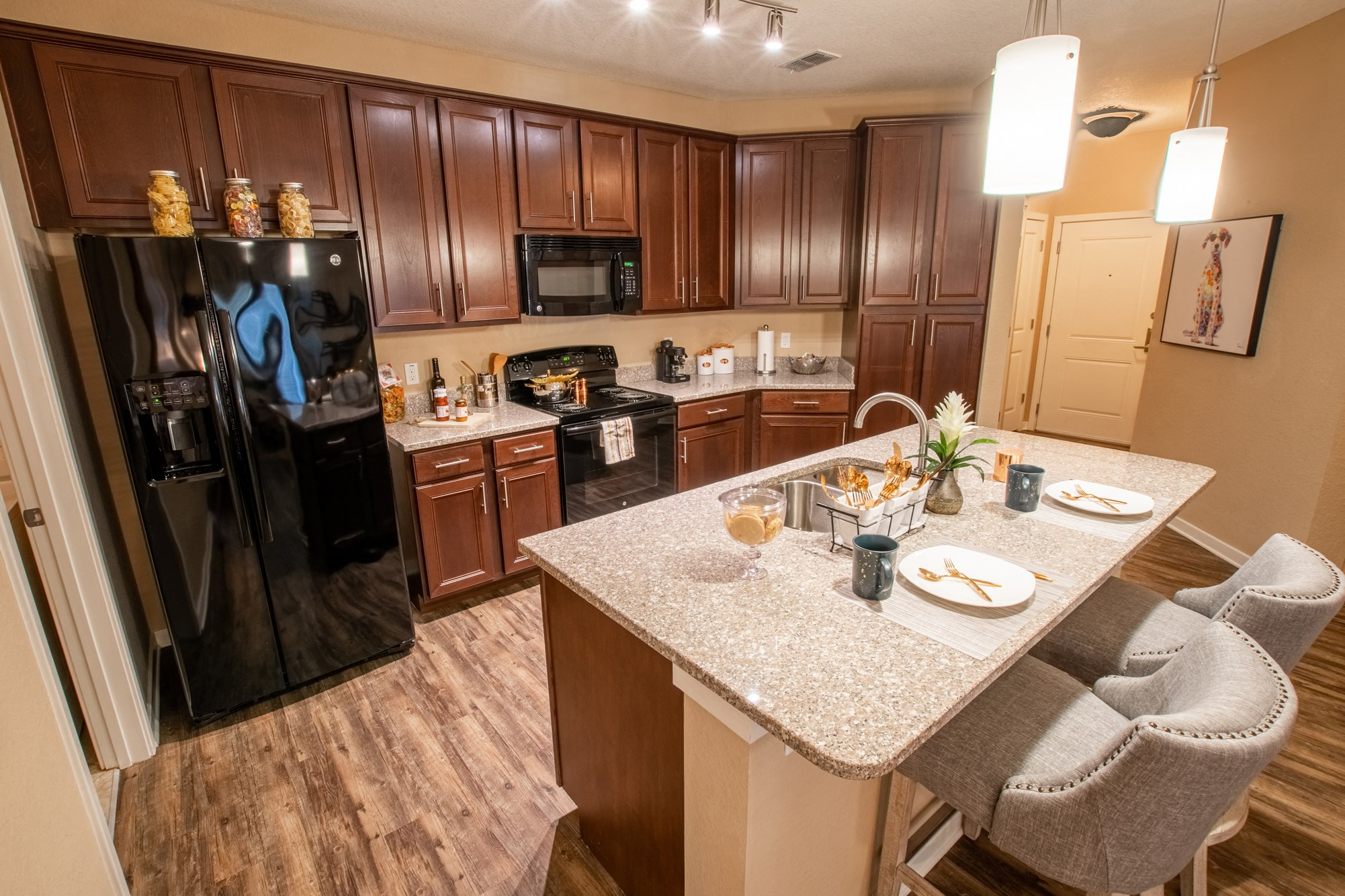 Kitchen at Park Place Apartments