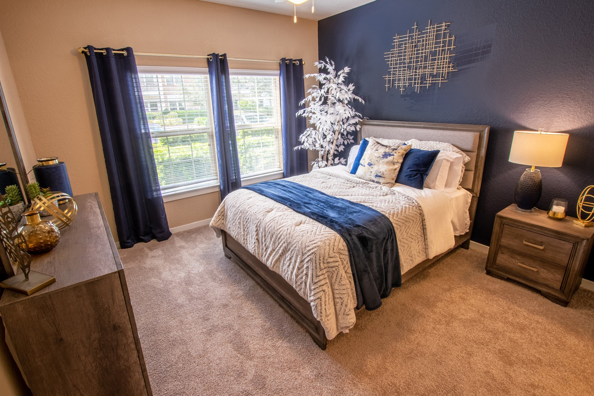 Bedroom at Park Place Apartments