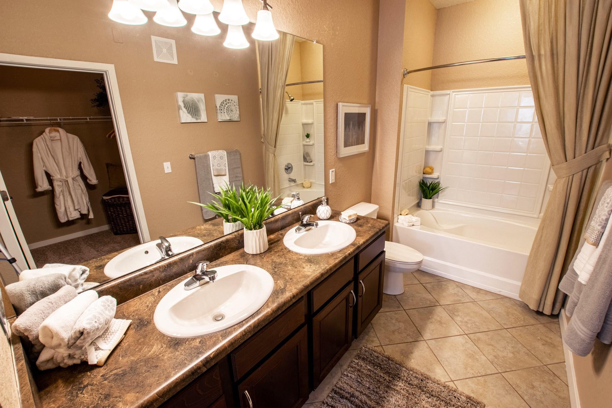 Bathroom at Park Place Apartments