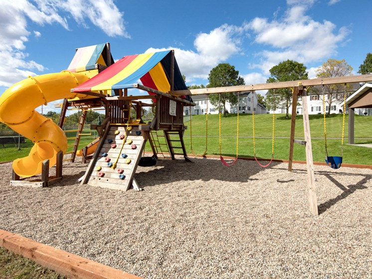 children's outdoor playground on a sunny day