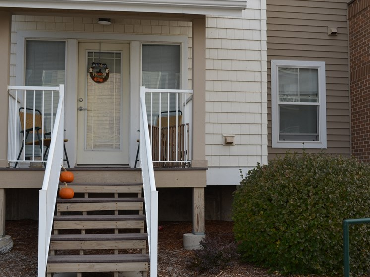 Private porches are available