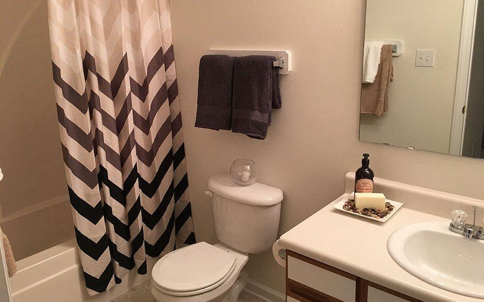 Bathroom at Hidden Lake Apartments, Fayetteville, North Carolina