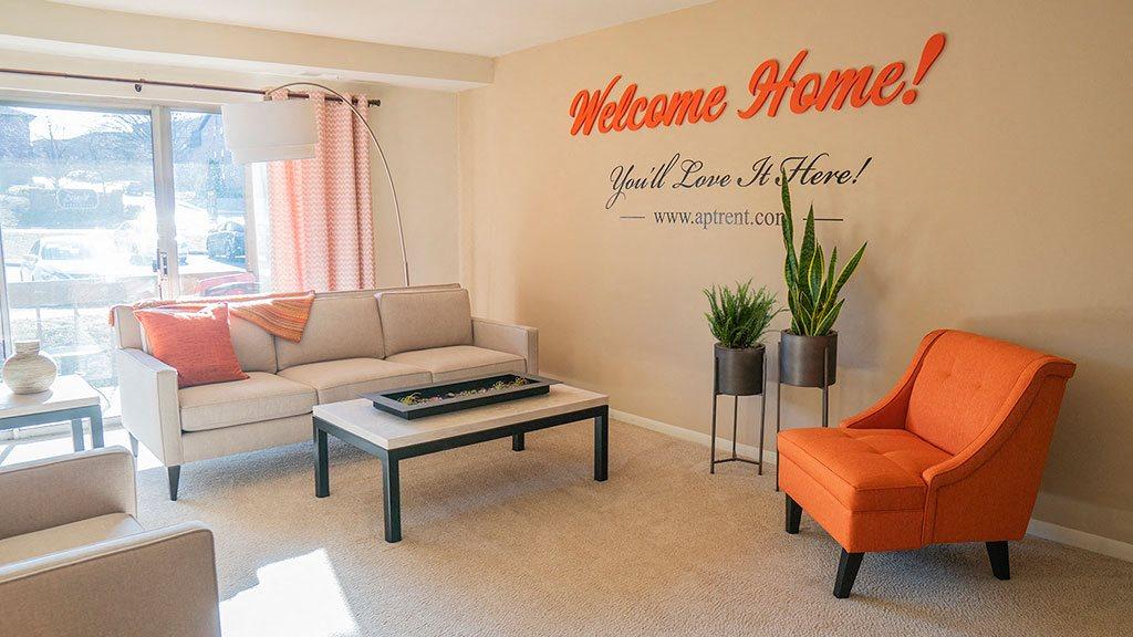 Bright spacious living room