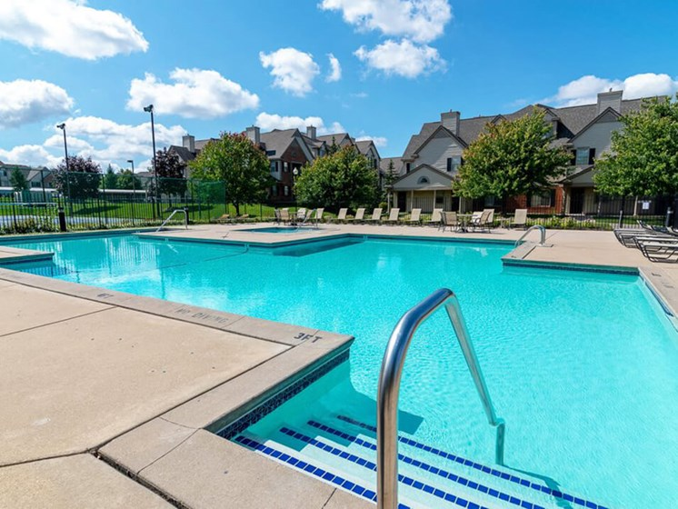 swimming pool at apartment complex