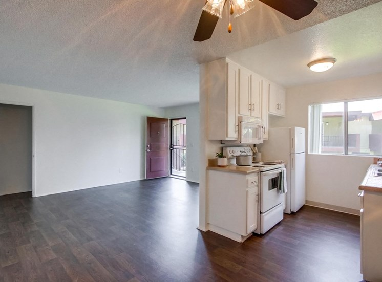 Open kitchen and living space - Mesa Vista Apartments