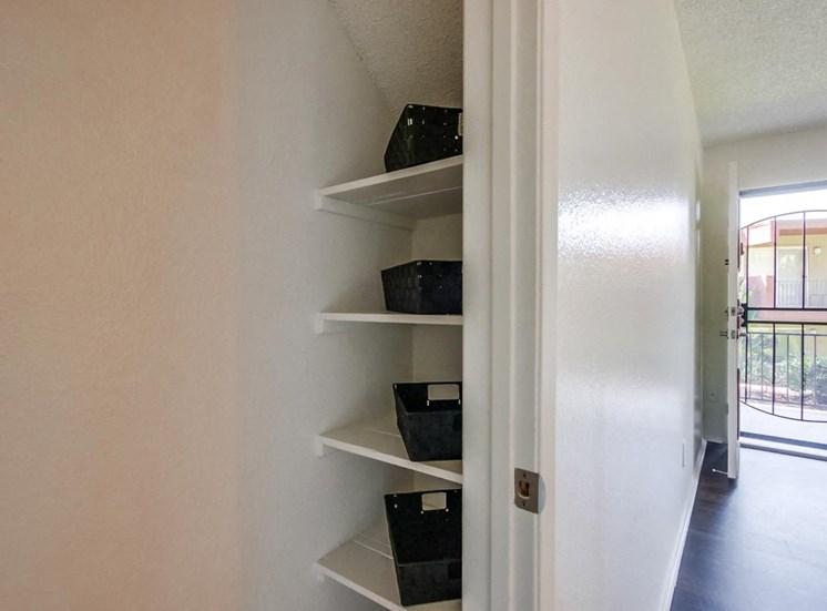 Storage and shelves - Mesa Vista Apartments