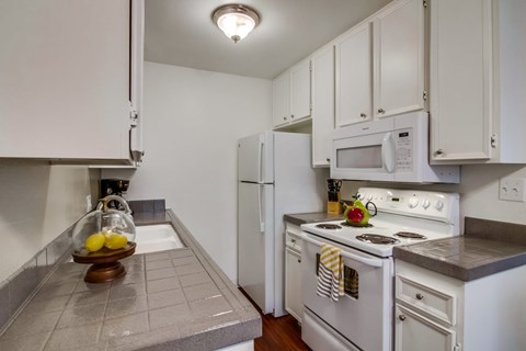 Shasta Lane Apartments Furnished Apartment Kitchen