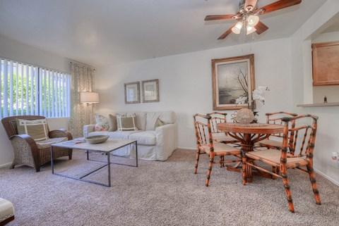 Casa Grande Senior Apartment Homes Living Room & Dining Room
