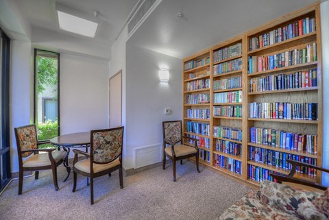 Casa Grande Senior Apartment Homes Lifestyle - Library
