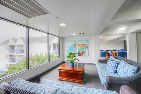 Casa Pacifica Senior Apartment Homes Lifestyle - Indoor Lounge Area 3rd Floor