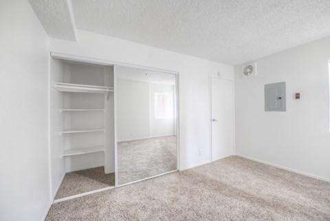 Casa Pacifica Senior Apartment Homes Empty Apartment Bedroom & Closet