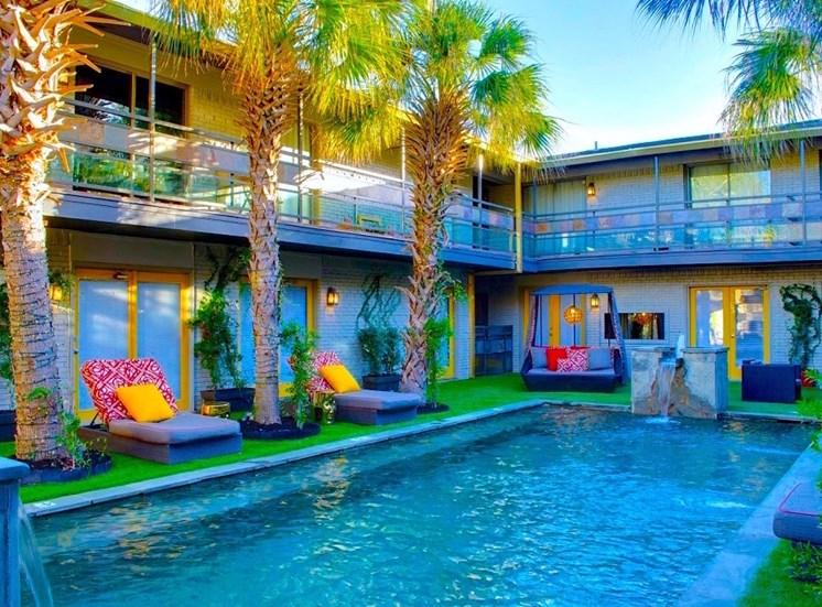 5908 Gaston Plaza Apartment Courtyard Oasis