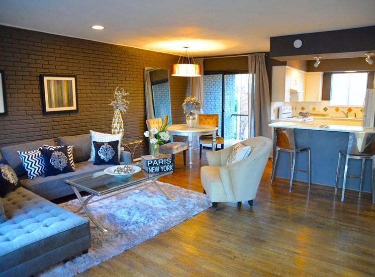 5808 Gaston The Villa Living Room