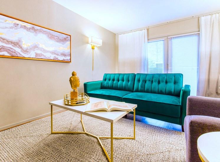 5121 Gaston Garden Villa Living Room Balcony