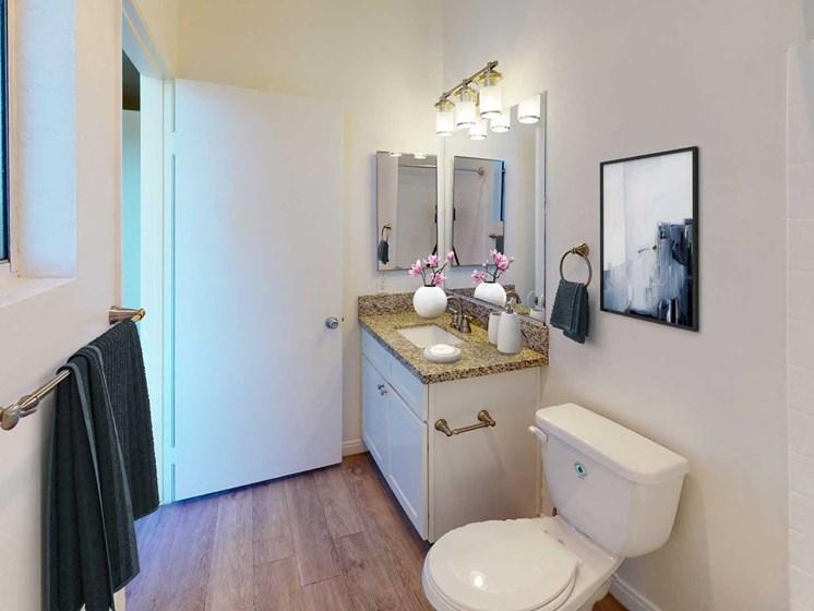 Bathroom at Oxnard Plaza, North Hollywood, California