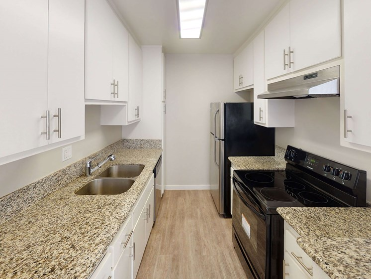 Fully Equipped Kitchen at La Fayette Marquis, Los Angeles, CA