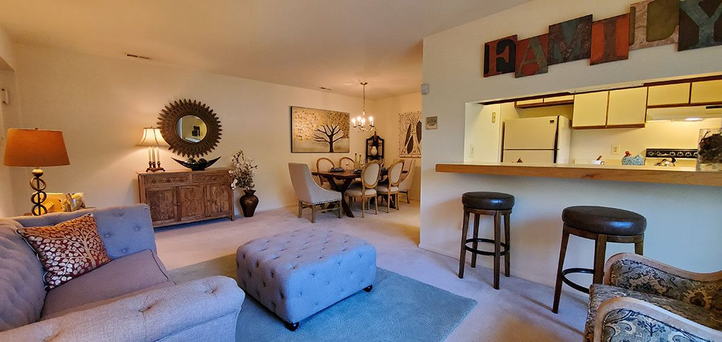 Overview of two bedroom