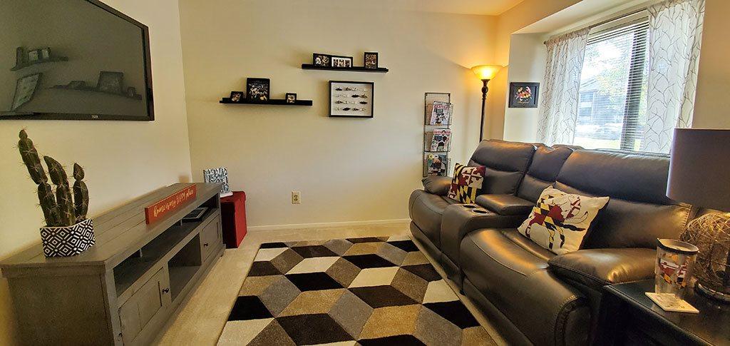 Bedroom as game room