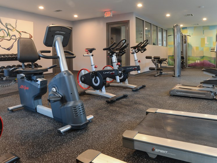 fitness center in our apartments on east riverside