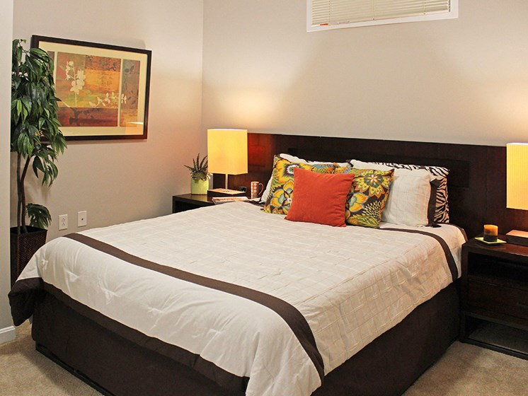 The Resideces at 668 Standard Model Bedroom at The Residences at 668, Cleveland