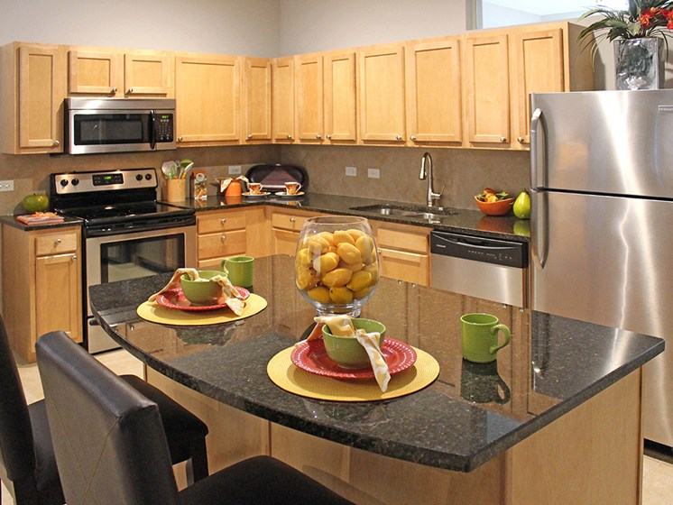 The Resideces at 668 Standard Model Kitchen at The Residences at 668, Cleveland, Ohio