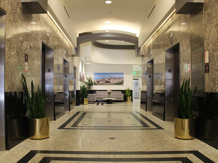 Beautiful Marble Lobby at Residences At 1717, Cleveland, OH, 44114