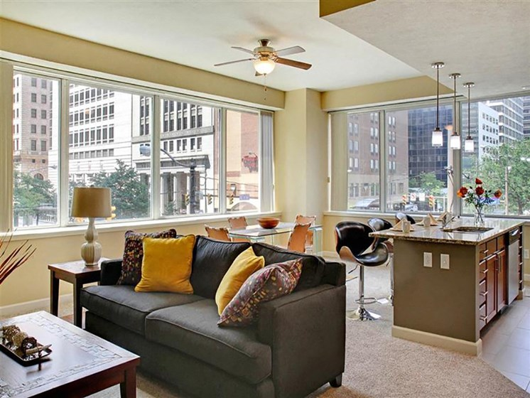 Clubhouse With Expansive Windows at Residences At 1717, Cleveland, OH