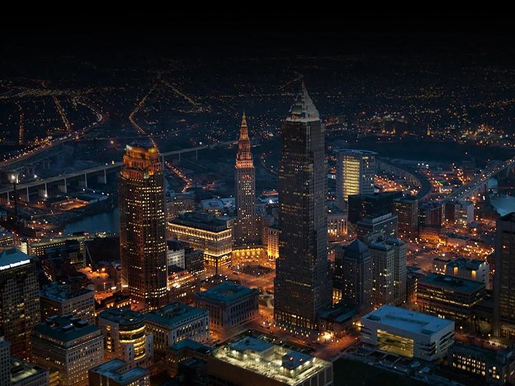 Night  Surrounding View at Residences At 1717, Cleveland, OH, 44114