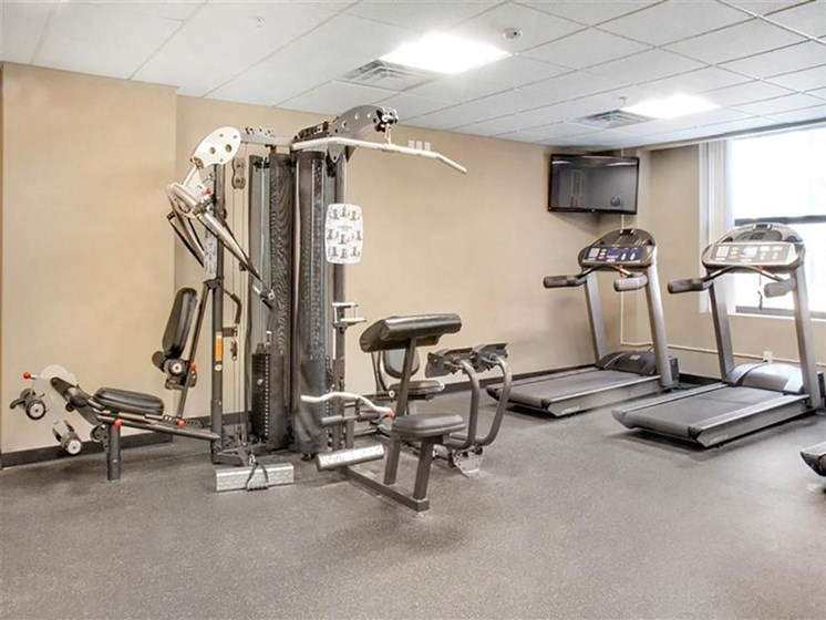 Fitness Center With Updated Equipment at The Residences At Hanna, Cleveland, OH, 44115