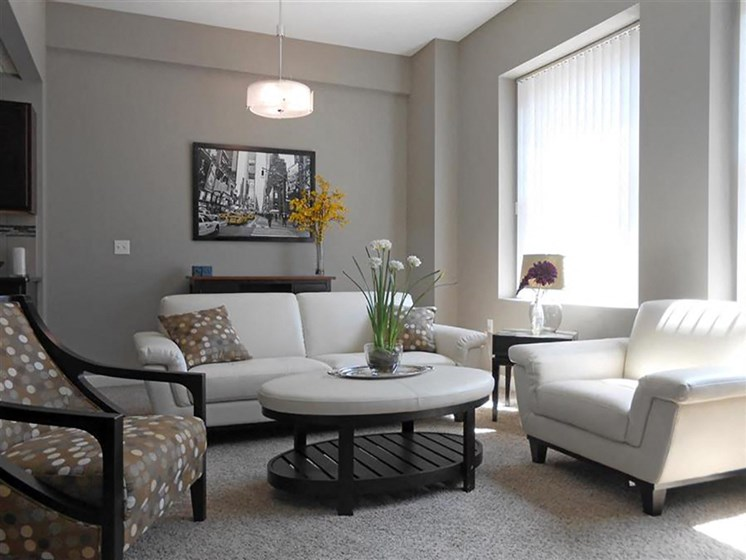 Modern Living Room at The Residences At Hanna, Ohio, 44115