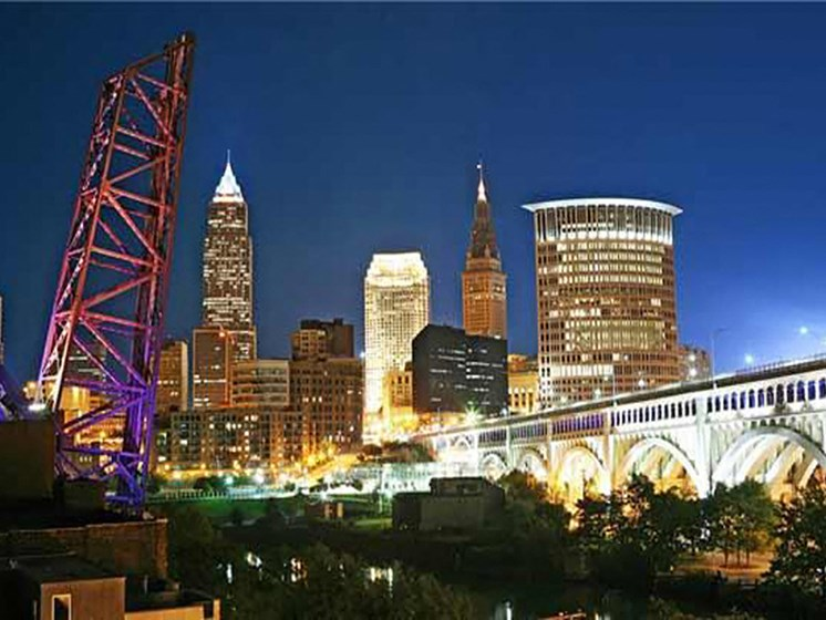 Elegant City View at The Residences At Hanna, Cleveland, OH, 44115