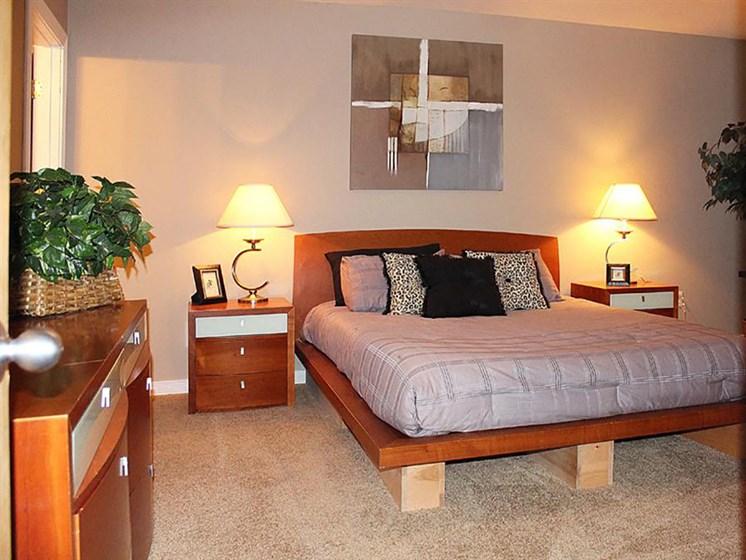 Well Decorated Bedroom at Stonebridge Waterfront, Ohio