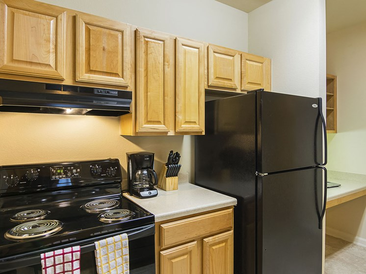 Furnished Kitchen at Ultris Courthouse Square Apartments in Stafford, Virginia, VA