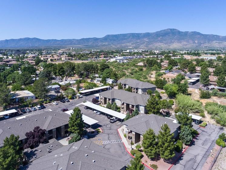 Aerial View at Sagewood Apartments in Cottonwood, AZ