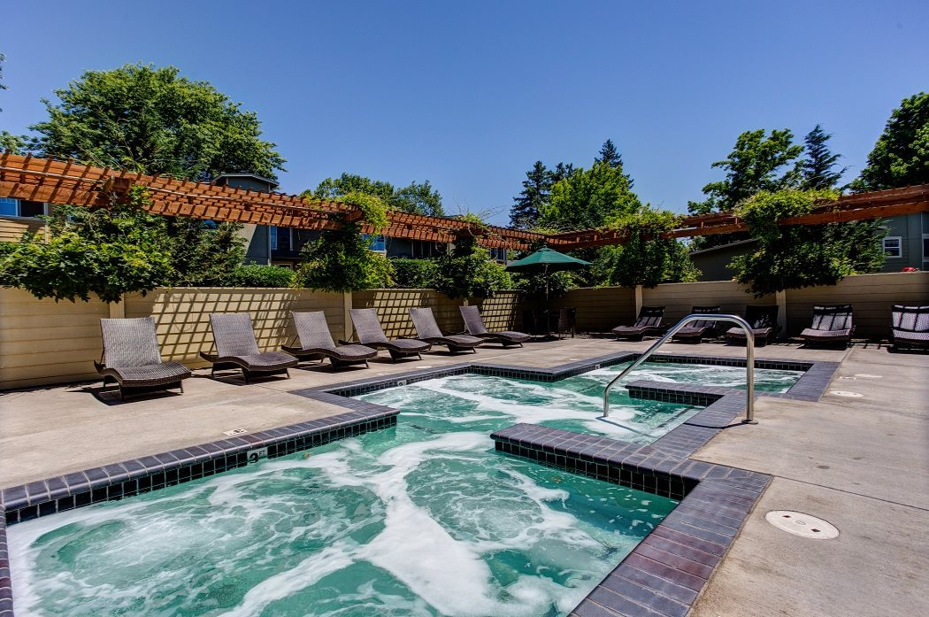 Sundeck and Hot Tub at Commons at Timber Creek, Portland, 97229