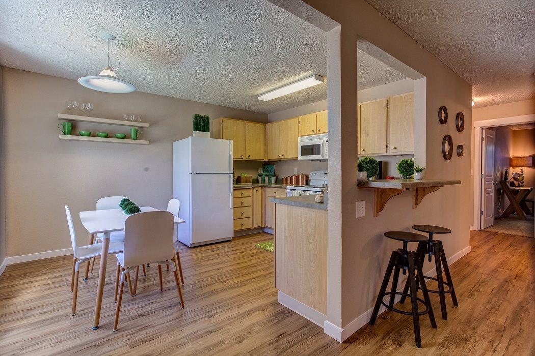 New Countertops and Cabinets at Commons at Timber Creek Apartments, Oregon, 97229