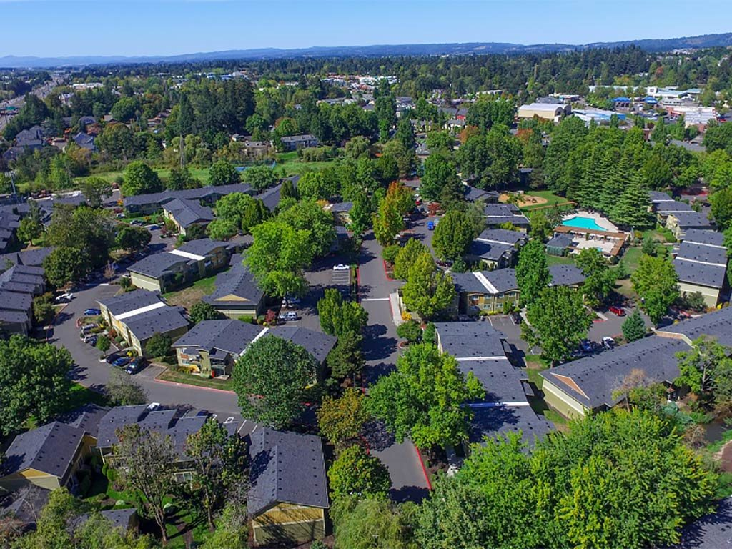 Community Aerial View at Commons at Timber Creek, Portland