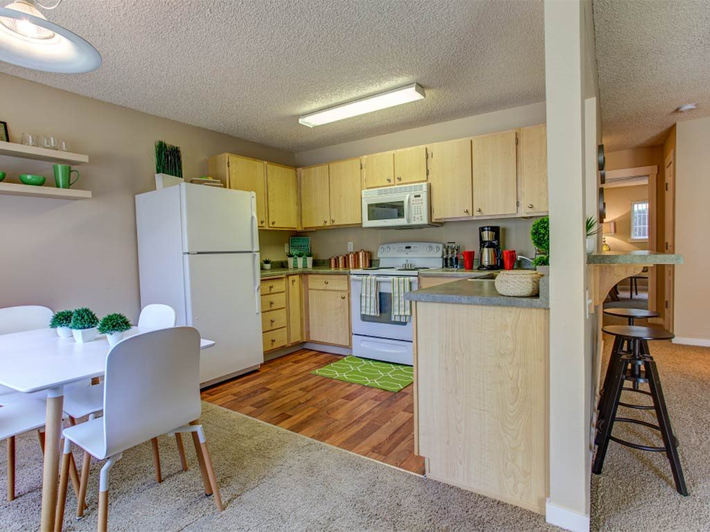 Naturally-lighted Kitchen at Commons at Timber Creek, Portland, 97229