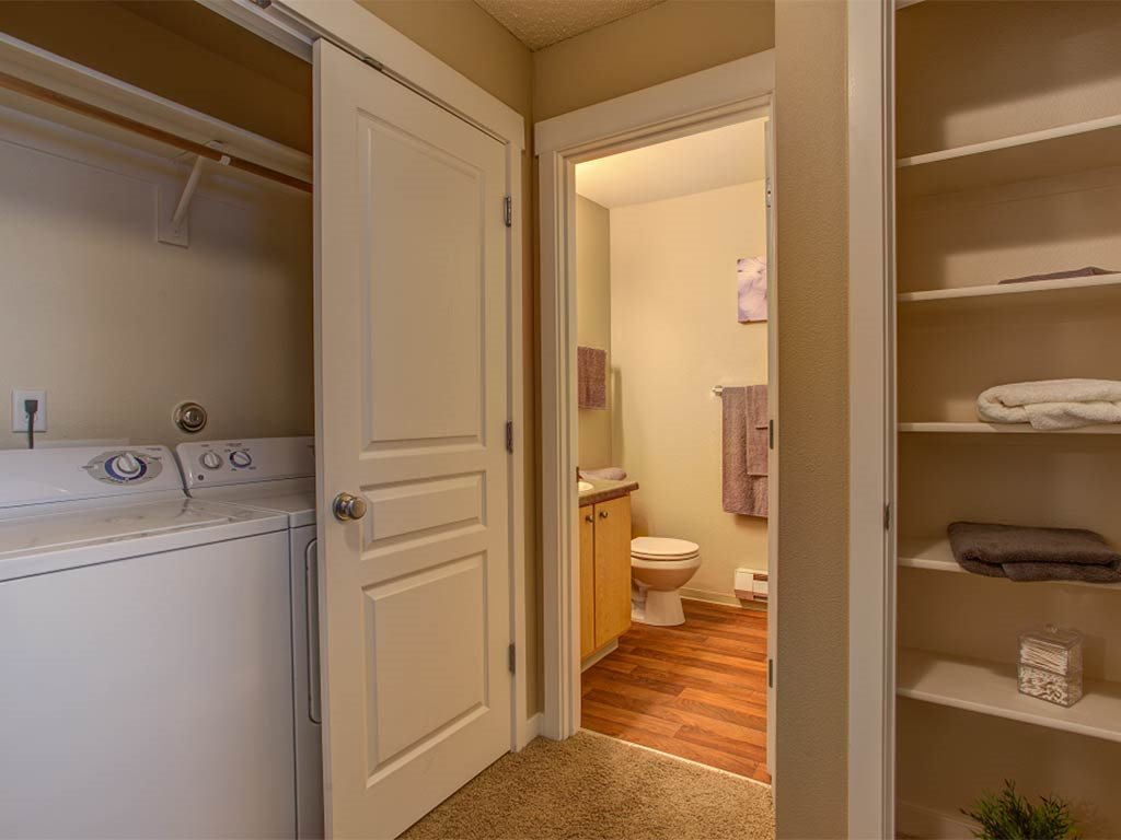In-Home Washer/Dryer and Storage at Commons at Timber Creek, Oregon