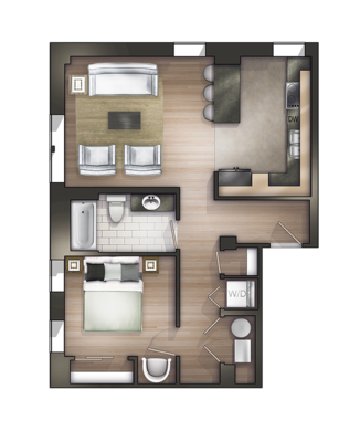 Floor Plans Of Strathmore Apartments In Detroit Mi