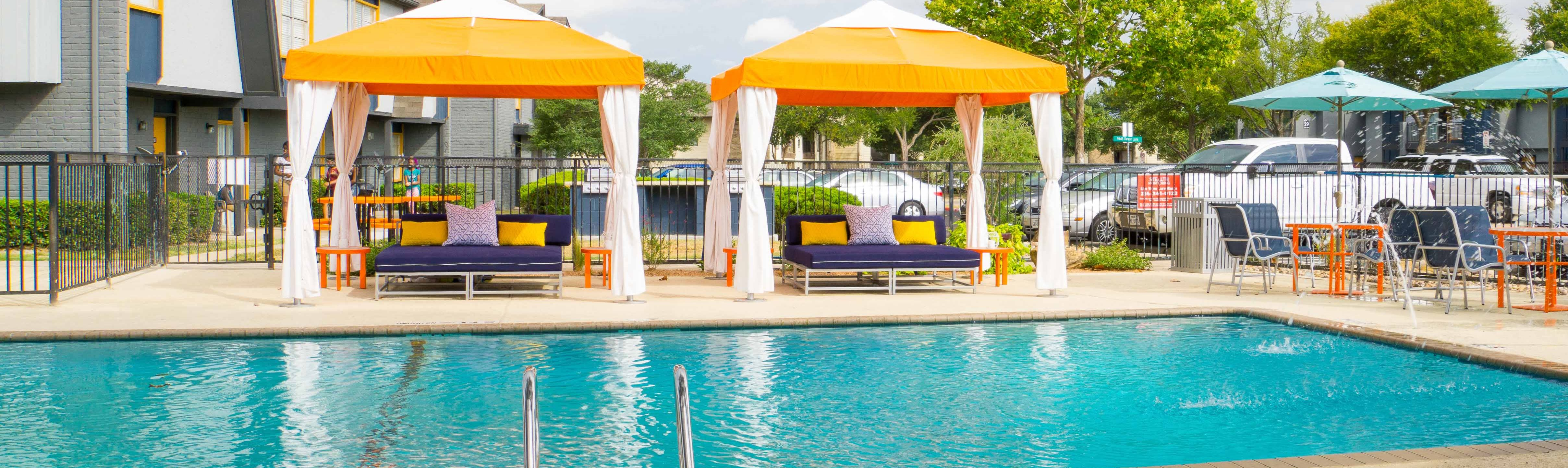 Picturesque Pool And Cabana Setting at Link Apartments, Dallas, TX, 75243