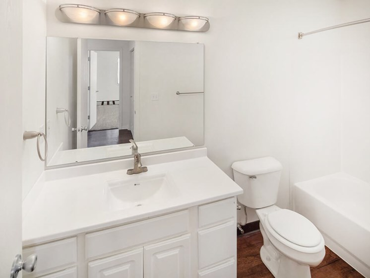 bright bathrooms at Forest Pointe apartments