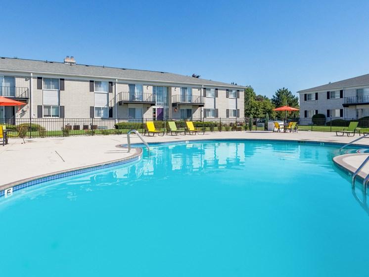 Pool Deck at Regents Court Apartments,33105 Warren Road, Westland MI,48185